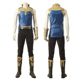 Avengers Infinity War Thanos Cosplay Costume With Infinity Gauntlet