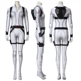 Black Widow Natasha Romanoff White Cosplay Jumpsuit