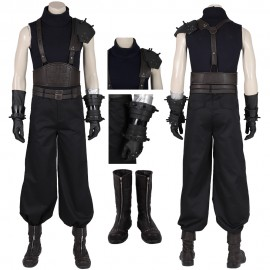 Cloud Cosplay Costume Final Fantasy VII Remake Cloud Black Suit