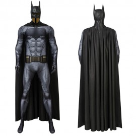 Dc Justice League Batman Cosplay Jumpsuit With Cape