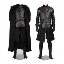 Game of Thrones Jon Snow Night's Watch Commander Cosplay Costume