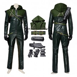 DC Green Arrow First Season Oliver Queen Cosplay Costume