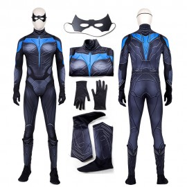 Nightwing Costume Cosplay Suit Dick Grayson Titans Outfit