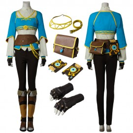 Princess Zelda Blue Costume The Legend of Zelda Breath of the Wild Cosplay Outfit